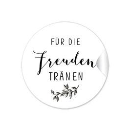 """""""Für Freudentränen"""" - Zweig schwarz weiß"""