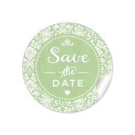 """Save the Date"" - Vintage  Retro Ornamente - grün"