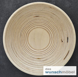 Flache Holzschale, ø 37 cm, Birkenschichtholz