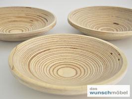 Flache Holzschale, ø 20 cm, Birkenschichtholz