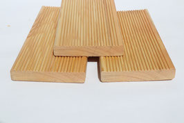 Terrassendielen aus sibirischer Lärche geriffelt 20 x 120 mm 3 m 4 m A/B Sortierung