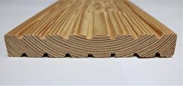 Balkon-Dielen aus sibirischer Lärche geriffelt  20 x 140 mm 3m 4m 5,1m A/B Sortierung