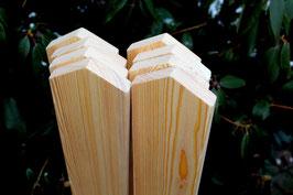 Zaunlatte  aus sibirischer Lärche  Spitzform 2 x 9,5 cm  Länge 60 cm 80 cm 100 cm 120 cm 150 cm 180 cm