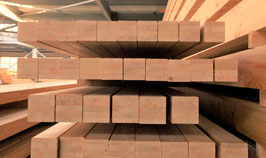 Pfosten aus sibirischer Lärche / Brettschichtholz,  12 x 12 cm, Pyramide / Gerade- Form