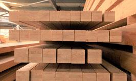 Pfosten aus sibirischer Lärche / Brettschichtholz,  9 x 9 cm, Pyramide / Gerade- Form