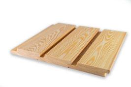 Deck - Rhombusprofil | Rautenprofil | Wechselfalzprofil sibirische Lärche 20x95 mm Länge 2m 3m 4m A/B Sortierung