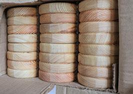 Paket mit Zaunlatten aus sibirischer Lärche  Rundkopf 2 x 9 cm  Länge 80 cm 100 cm