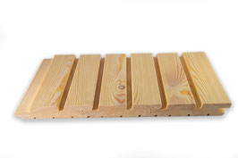 Doppel- Rhombusprofil / Rautenprofil sibirische Lärche 27x142 mm Länge 2m 3m 4m 6m A/B Sortierung