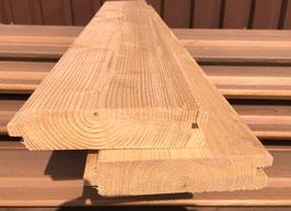 Fasebretter Nut-Feder Paneele Gartenhausprofil aus sibirischer Lärche  27 x 118 mm  1m 2m 3m 4m lang A/B Sortierung