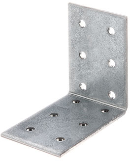 Lochplattenwinkel, 60 x 60 x 40 mm Stahl roh, sendzimirverzinkt