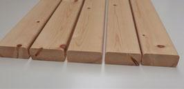 Banklatten  27 x  65 mm, Länge 2m 3m  Zirbelkiefer (sibirische Zeder)