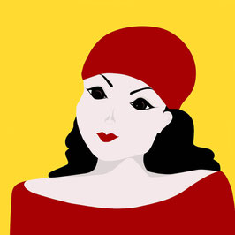 """LADY IN RED AND YELLOW"" (2016)"