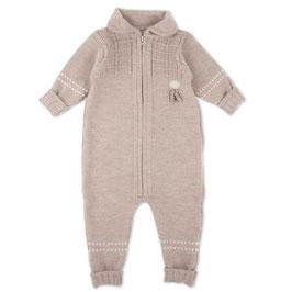 LILLELAM Combinaison bébé en laine Mérinos, beige