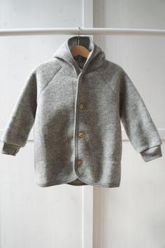ENGEL Veste bébé à capuche laine polaire, gris