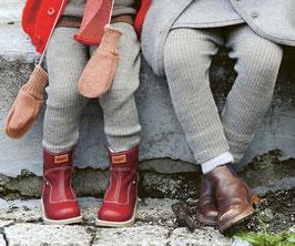 DISANA Legging bébé et enfant laine Mérinos, gris chiné