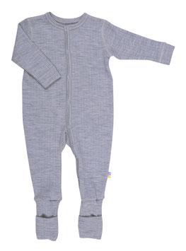 JOHA Combinaison fine bébé laine Mérinos, gris