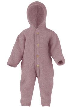 ENGEL Combinaison bébé à capuche laine polaire, rose pâle