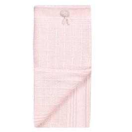 LILLELAM Couverture en laine Mérinos pour bébé, rose clair