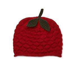 """KONGES SLØJD Bonnet """"fraise"""" rouge bébé enfant en laine Mérinos"""