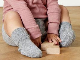 GOBABYGO Chaussettes antidérapantes pour bébé en alpaga, gris