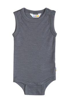 JOHA Body bébé débardeur laine Mérinos et soie, gris