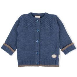 LILLELAM Cardigan bébé et enfant en laine Mérinos, bleu foncé