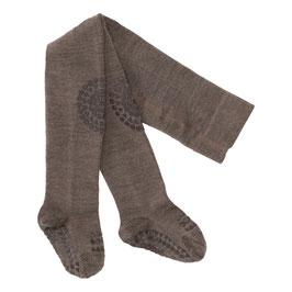 GOBABYGO Collant antidérapant pour bébé en laine, marron