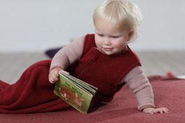 DISANA Gigoteuse bébé en laine bouillie, bordeaux