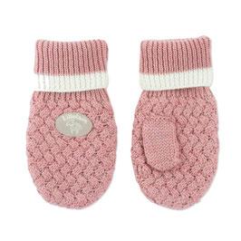 LILLELAM Moufles bébé enfant en laine Mérinos, rose heather