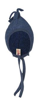 ENGEL Bonnet bébé laine polaire avec pompon, bleu chiné