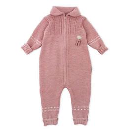 LILLELAM Combinaison bébé en laine Mérinos, rose heather