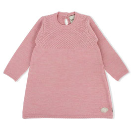 LILLELAM Robe bébé et enfant en laine Mérinos, rose heather