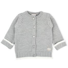 LILLELAM Cardigan bébé et enfant en laine Mérinos, gris