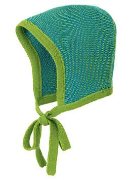 DISANA Bonnet béguin bébé  laine Mérinos, vert