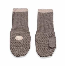 LILLELAM Moufles bébé enfant en laine Mérinos, marron