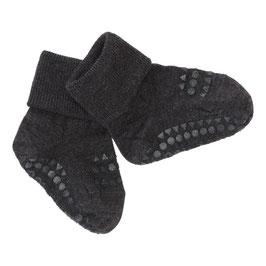 GOBABYGO Chaussettes antidérapantes pour bébé en laine, gris foncé