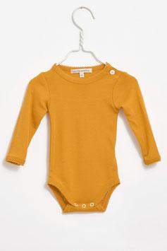 LILLI & LEOPOLD Body bébé fille, laine Mérinos, ocre jaune