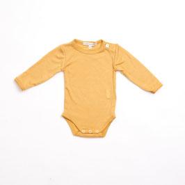 LILLI & LEOPOLD Body bébé fille, laine Mérinos, soleil clair