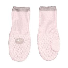 LILLELAM Moufles bébé enfant en laine Mérinos, rose clair