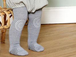 GOBABYGO Collant antidérapant pour bébé en laine, gris