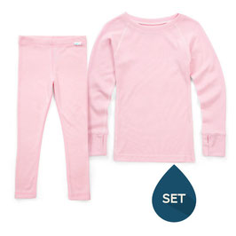 Pack laine SUPERLOVE rose enfant 1 tricot 1 legging