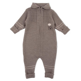 LILLELAM Combinaison bébé en laine Mérinos, marron
