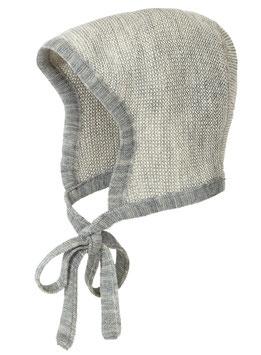 DISANA Bonnet béguin bébé laine Mérinos, gris