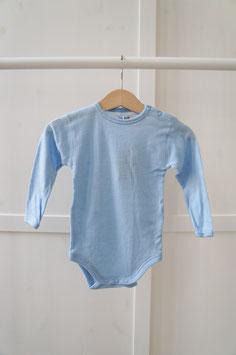 JOHA Body nouveau-né laine Mérinos, bleu clair