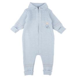 LILLELAM Combinaison bébé en laine Mérinos, bleu clair
