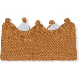 MINI A TURE Bandeau couronne en laine Mérinos, orange doré chiné