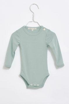 LILLI & LEOPOLD Body bébé fille, laine Mérinos, vert jade