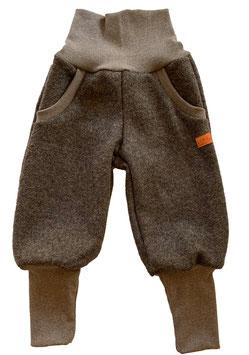 LIVI Pantalon en laine bouillie, coupe enfant, marron