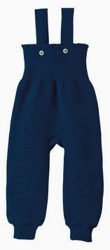 12 MOIS - DISANA Salopette fine bébé laine Mérinos, bleu marine