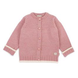 LILLELAM Cardigan bébé et enfant en laine Mérinos, rose heather